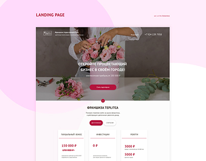 "Landing Page ""Franshiza Teplitca"""