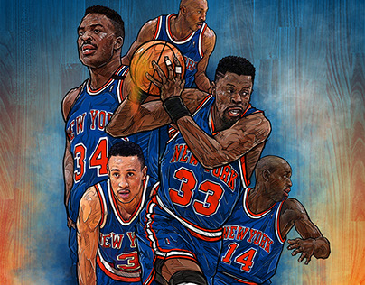 90s new york KNICKS smartphone lock screen wallpaper on Behance