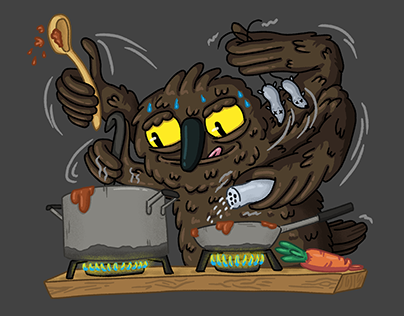 quarantine owl illustrations