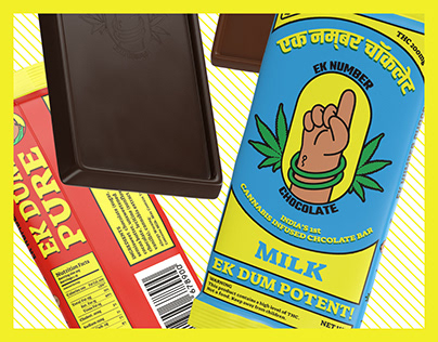 Ek Number | Branding & Packaging | Ganja Infused Choco