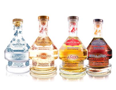 Tequila El Destilador Artesanal. Identidad de producto