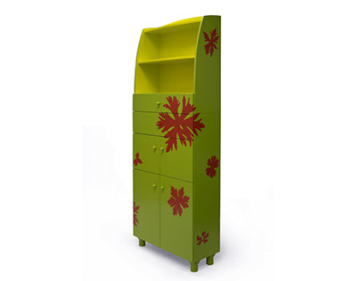 Cabinet with leaves