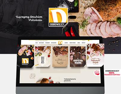 Dobrowolscy Branding company Meat website design