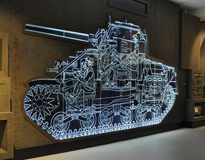 YORK ARMY MUSEUM, M4 SHERMAN TANK SIDE PROFILE