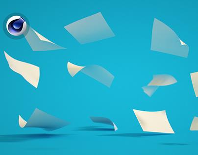 Dynamic Floating Paper in Cinema 4D Tutorial