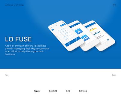 Lo Fuse Mobile App UI UX