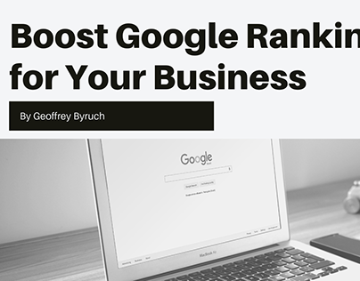 Boost Google Ranking for Your Business