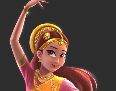 Indian Dancer Character Design
