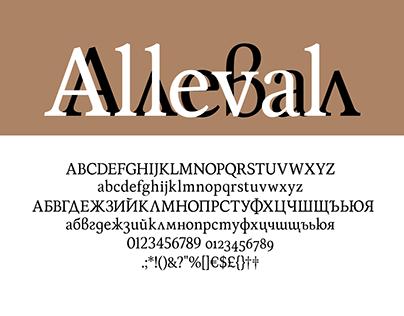 Alleval Serif // Typeface design