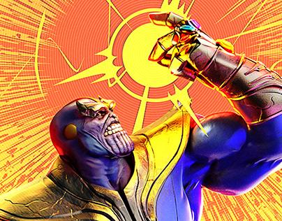 Thanos Rising Personal promo illustrations