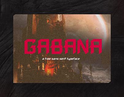 Gabana - Bold and Edgy Typeface [FREE]