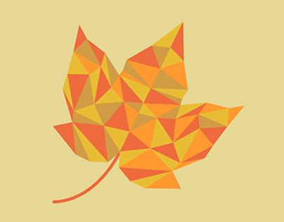 Geometric Leaf - September 2017 Wallpaper