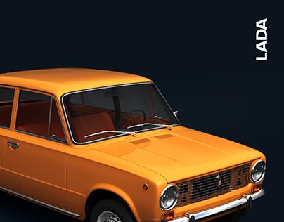 Концепт сайта Lada → Lada auto website concept