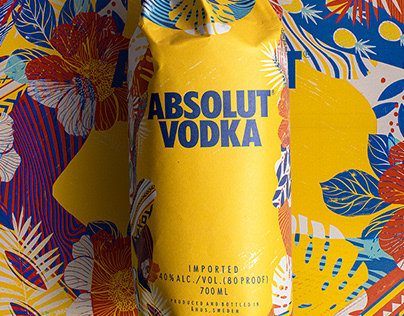 Absolut Vodka Colombia Paper Bag