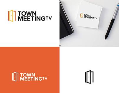 TownMeeting.Tv Logo design.