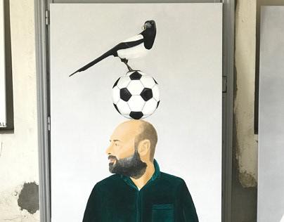 Magpie Nearby - Antonio Labruna 2018 - oil on canvas