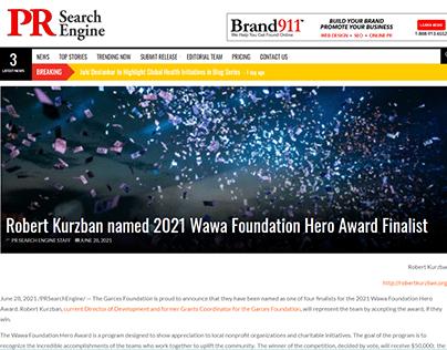 2021 Wawa Foundation Hero Award Finalist