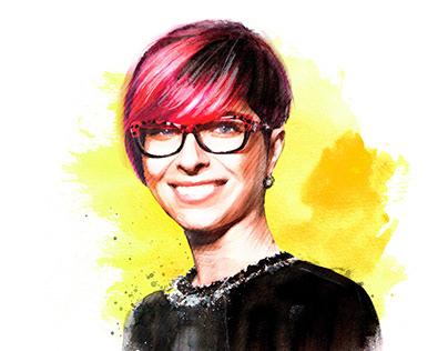 AGBU News Magazine Watercolor Portraits