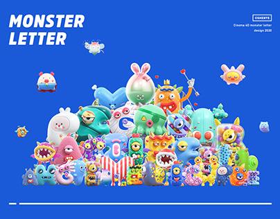 深野设计 | 26 monster letters