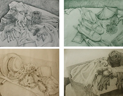 Series handdrawn pictures, called - 4 Seasons.
