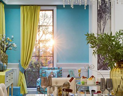"""Tiffany Blue"" Themed Villa in China   Interior Design"