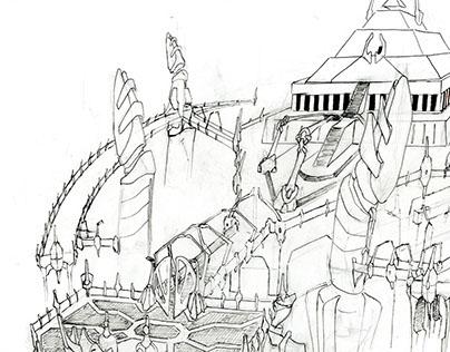 Alien Architecture Concept sketches