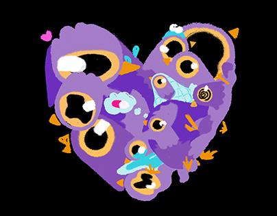 LOVE, TRASH DOVES Sticker Pack