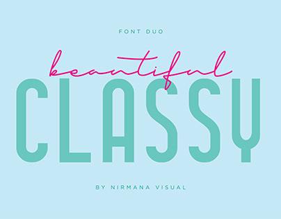 Classy Beautiful - Font Duo