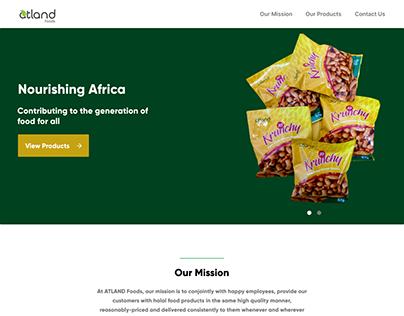 ATLAND Foods Landing Page