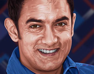 Aamir Khan Vector art