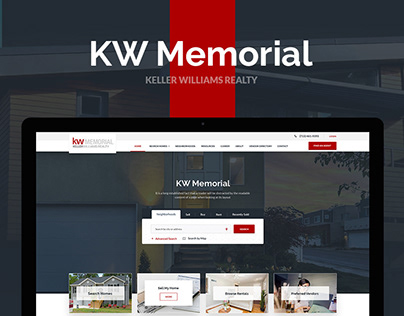KW Memorial — Real Estate Broker Website Design UX/UI