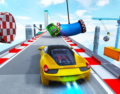 Fast Car Stunts: Mega Ramp Car Simulator