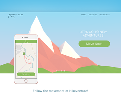 "Landingpage & 3D Illustration ""Hikeventure"""