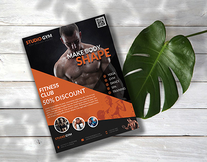 Professional Flyer Design For FITNESS CLUB