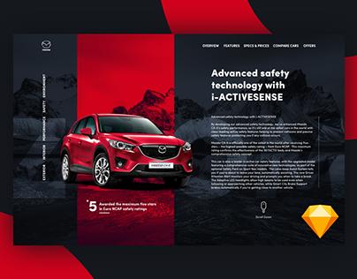 Mazda CX-5 Website concept