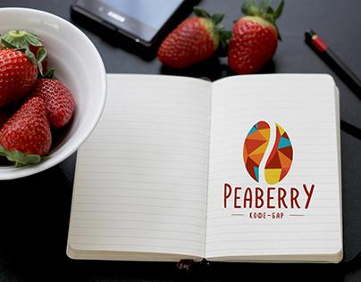 """Логотип для сети кофеен """"Peaberry"""""""