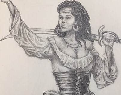 Pirate Woman Character Design
