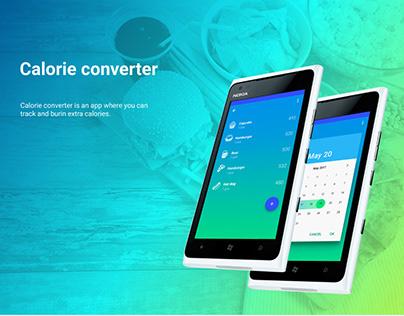 Calorie converter app
