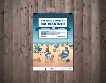 """""""Film Fridays at marina"""" poster"""