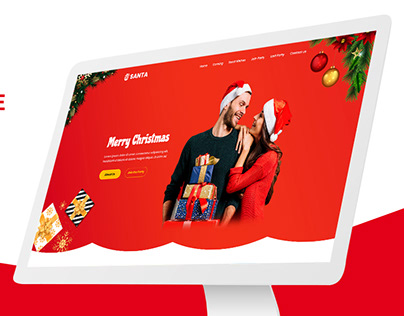 Christmas Landing Page PSD Template