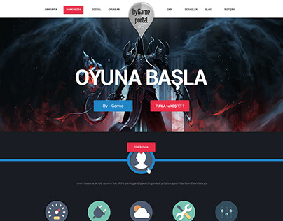 By Game Portal Psd Template
