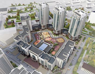 Сomplex multi-storey buildings / ЖК Университетский-2