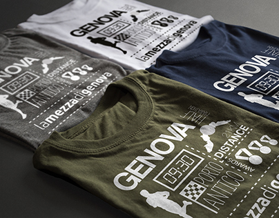 """Grafica Merchandise """"La Mezza di Genova"""""""