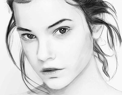 Barbara Palvin (Desenho)