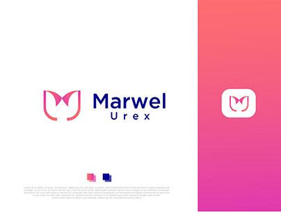 Brand Identity- Modern MU Letter Logo Design