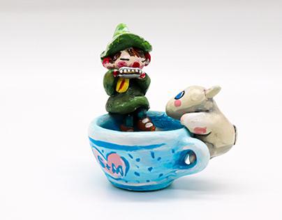 """""""Snufkin & Moomin"""" sculpt"""