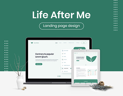 Life After Me Website Landing Page Design