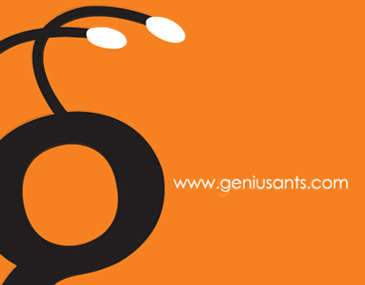 Genius Ants - Logotype, Website & Illustrations