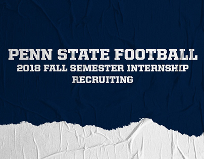 Penn State Football Recruiting Internship | Fall 2018