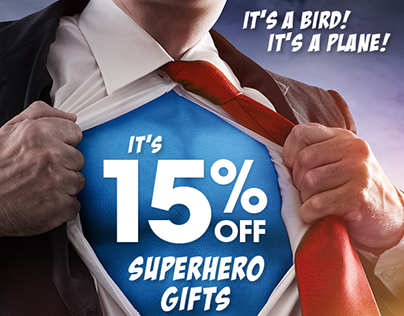 Superheroes Category Sale Email Design
